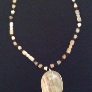PENDANT NECKLACE STONE MEXICAN ONYX STONE